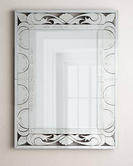 Venetian Etched Frame Mirror Within Venetian Etched Glass Mirrors (View 16 of 20)