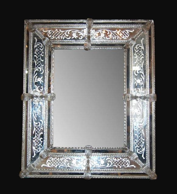 Venetian Glass Mirror For Sale | Antiques | Classifieds Within Venetian Etched Glass Mirrors (View 10 of 20)