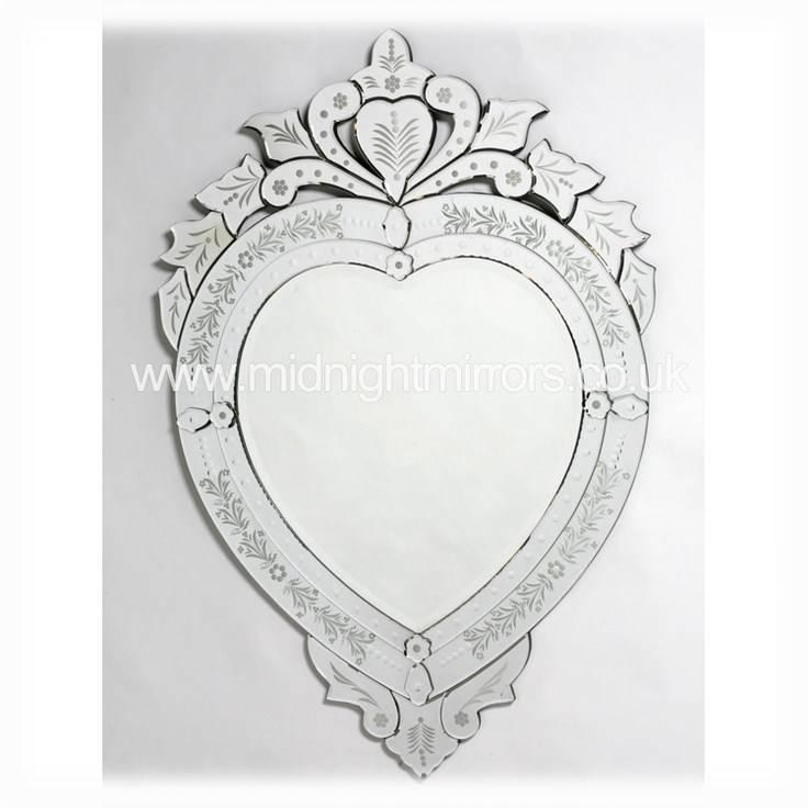 Inspiration about Venetian Heart Shaped Wall Mirror | Home Design Ideas Throughout Heart Venetian Mirrors (#14 of 20)