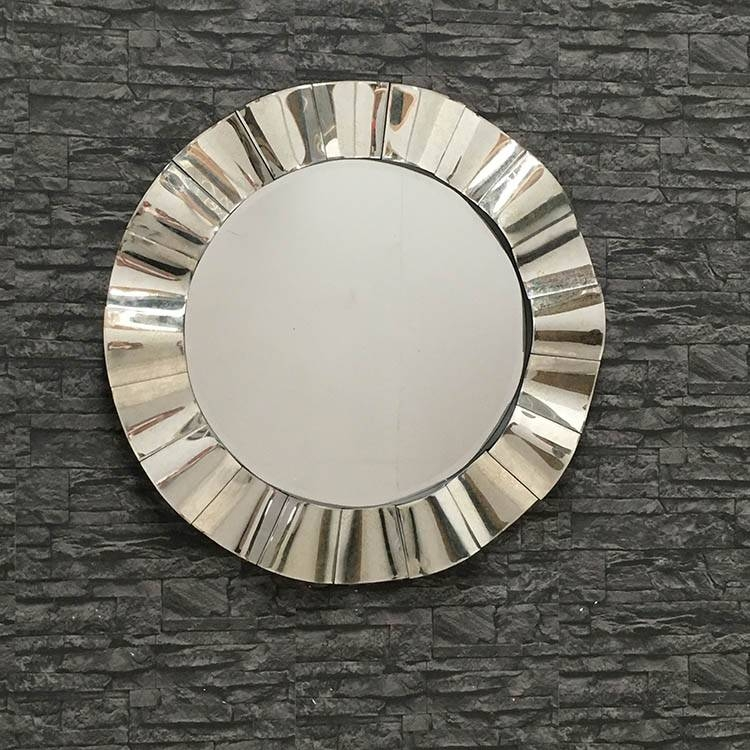 Inspiration about Venetian Large Round Wavy Mirror 96 Cm Venetian Round Wavy Mirror Inside Round Venetian Mirrors (#19 of 30)