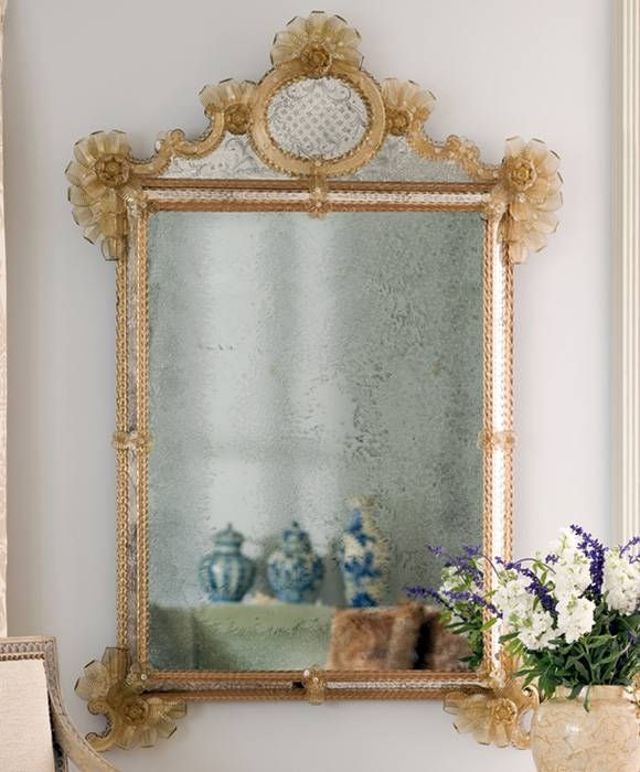 Inspiration about Venetian Mirror And Antiqued Venetian Mirror Throughout Gold Venetian Mirrors (#1 of 20)