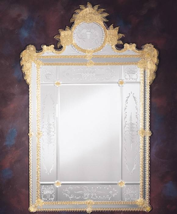 Inspiration about Venetian Mirror And Beveled Glass Venetian Mirror Inside Venetian Etched Glass Mirrors (#15 of 20)