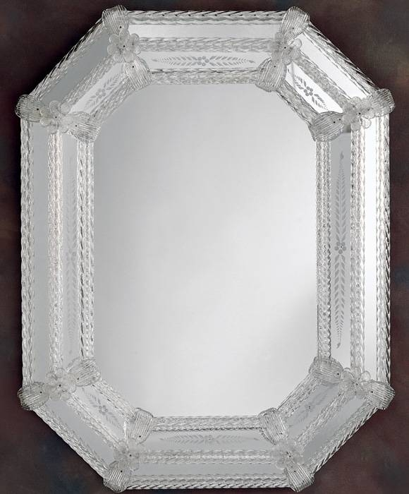 Venetian Mirror And Octagonal Venetian Mirror Regarding Venetian Etched Glass Mirrors (View 13 of 20)