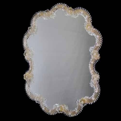 Inspiration about Venetian Mirror In Murano Glass Intended For Gold Venetian Mirrors (#18 of 20)