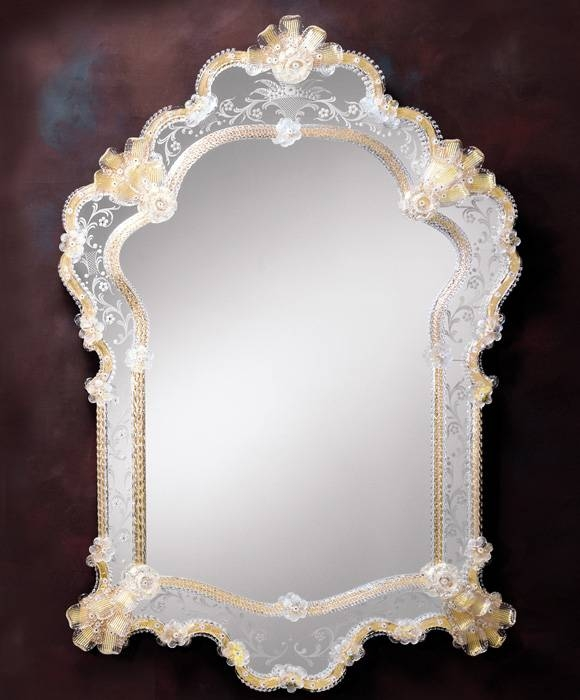 Venetian Mirror – Luxurious Venetian Glass Mirror With Venetian Etched Glass Mirrors (View 2 of 20)