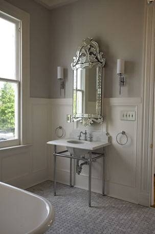 Venetian Mirror Medicine Cabinet – Transitional – Bathroom With Regard To Venetian Bathroom Mirrors (#17 of 20)