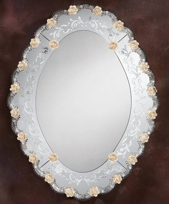 Venetian Mirror – Oval Venetian Wall Mirror Intended For Venetian Oval Mirrors (View 11 of 15)