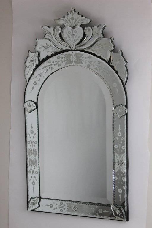 Inspiration about Venetian Mirror With Arched Top And Heart Detail At 1Stdibs Within Heart Venetian Mirrors (#19 of 20)