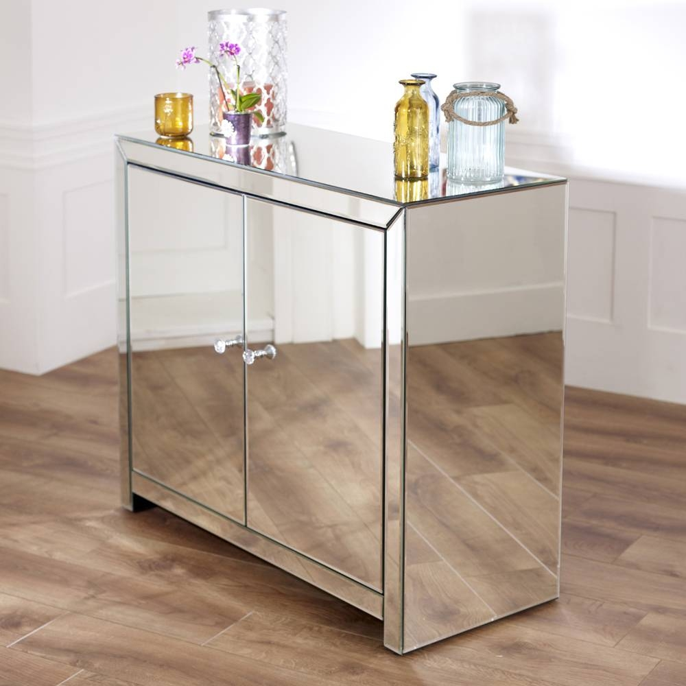 Ideas of venetian mirrored sideboard