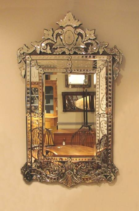 Venetian Mirrors Elegance For Your Home / Jorgensen Antiques Inside Rectangular Venetian Mirrors (#30 of 30)