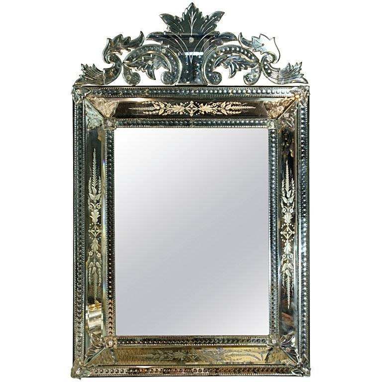 Venetian Pareclose Mirror With Bevelled Glass For Sale At 1Stdibs Intended For Bevelled Mirrors Glass (#19 of 20)