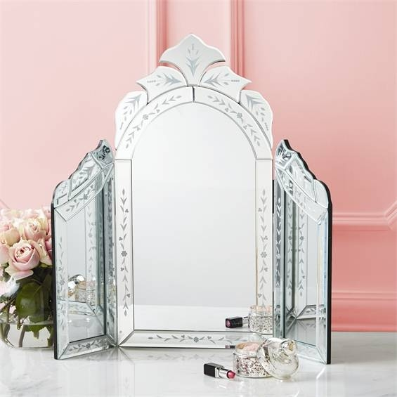 Venetian Style Dressing Table Intended For Venetian Table Mirrors (#16 of 20)