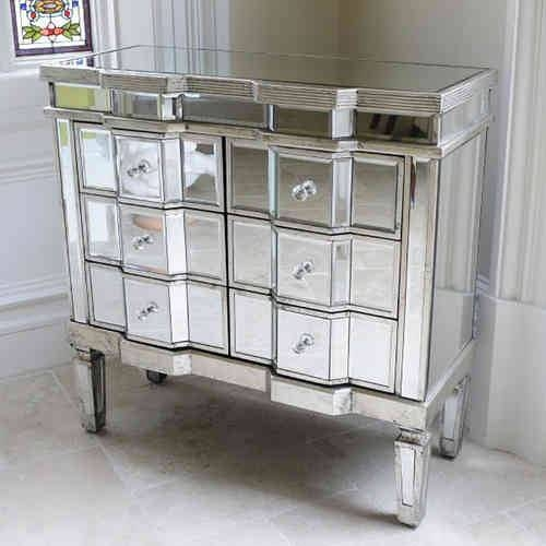 Venetian Style Mirrored|Gin Shu Art Deco And Wood Furniture Range Regarding Venetian Mirrored Chest Of Drawers (#20 of 20)