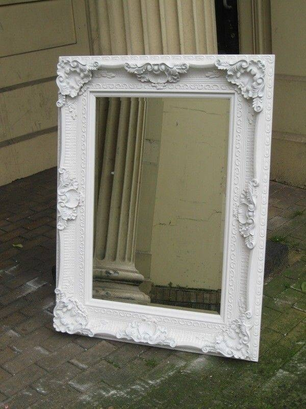 Versace White Shabby Chic Large French Leaner Wood Dress Wall Regarding White Large Shabby Chic Mirrors (#29 of 30)