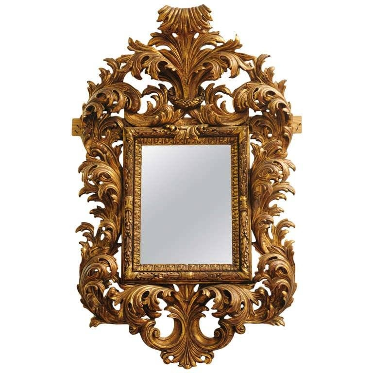 Very Fine Late 19Th Century Italian Rococo Style Carved Wood For Rococo Style Mirrors (#27 of 30)
