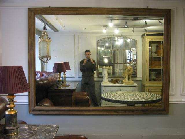Inspiration about Very Large 19Th Cent English Oak Frame Mirror – Square Mirrors Regarding Very Large Mirrors (#1 of 30)