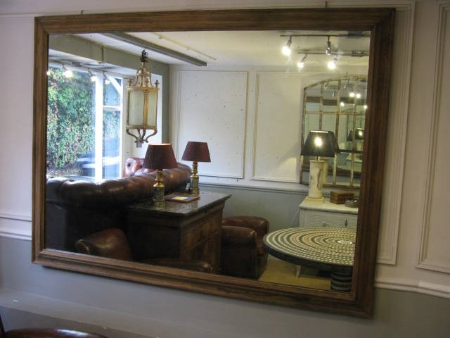 Very Large 19Th Cent English Oak Frame Mirror – Square Mirrors Throughout Very Large Mirrors (#25 of 30)