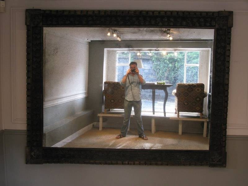 Inspiration about Very Large 19Th Century Carved Oak Mirror – Square Mirrors With Large Square Mirrors (#9 of 30)