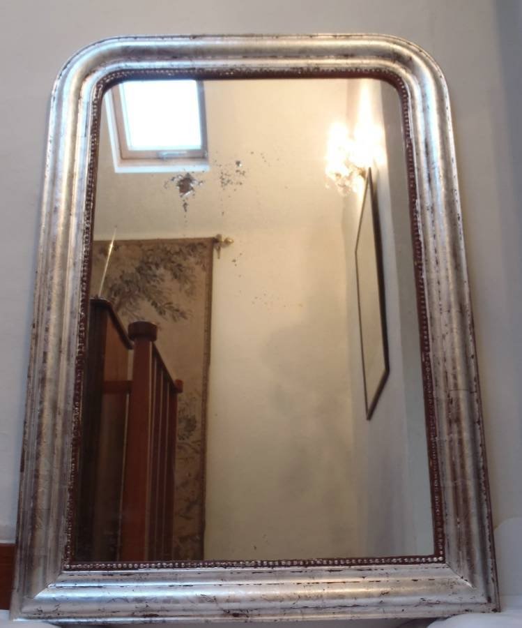 Inspiration about Very Large Antique French Silver Archtop Mirror In From On The For Large Antique Silver Mirrors (#9 of 20)