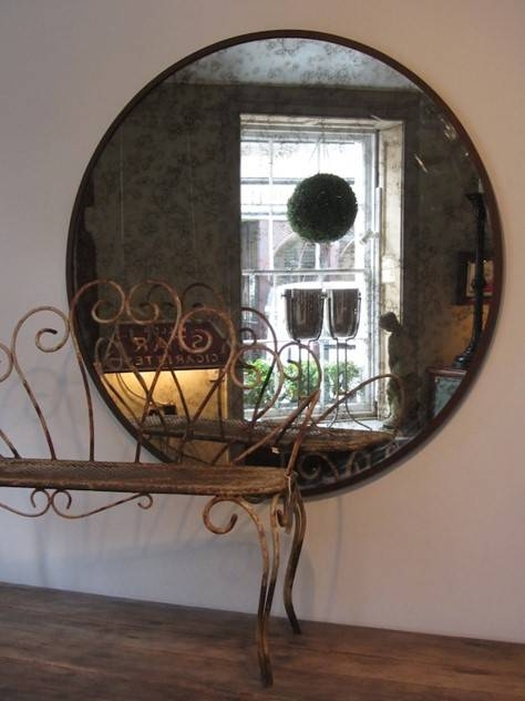Inspiration about Very Large Circular Mirrors – Decorative Collective In Very Large Mirrors (#13 of 30)