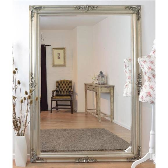 Inspiration about Very Large Ornate Silver Framed Mirror 147Cm X 208Cm | Large With Regard To Very Large Mirrors (#7 of 30)