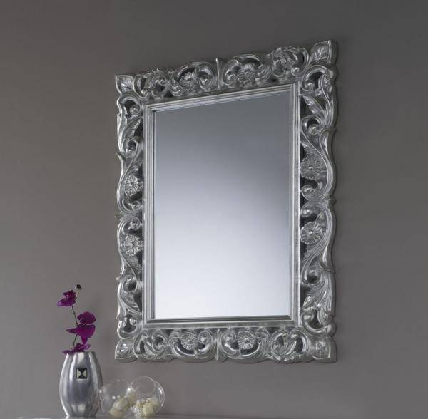 Inspiration about Vesta, Traditional Style Ornate Mirror, Silver/gold For Ornate Silver Mirrors (#14 of 20)