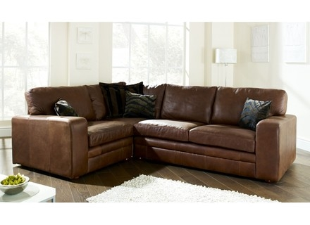 Viana Leather Corner Sofa Sofasworld Corner Sofas Avworld With Small Brown Leather Corner Sofas (#14 of 15)