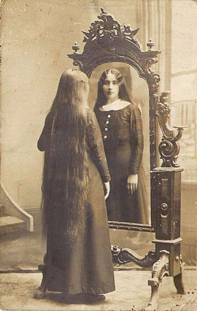 Inspiration about Victorian Beauties – 31 Interesting Photos Show Ladies In Front Of With Vintage Long Mirrors (#10 of 30)