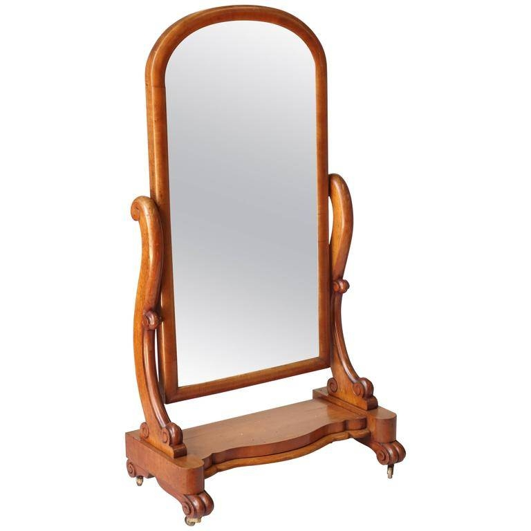 Inspiration about Victorian Floor Standing Mirror For Sale At 1stdibs Inside Victorian Floor Mirrors (#6 of 30)