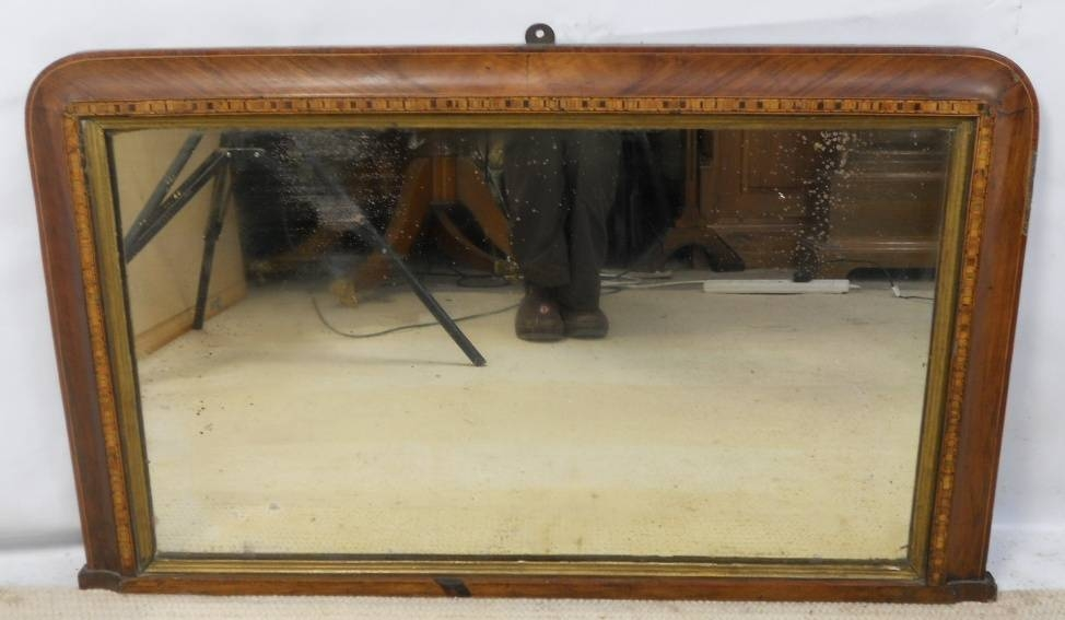 Inspiration about Victorian Inlaid Walnut Overmantle Mirror In Wooden Overmantle Mirrors (#14 of 30)