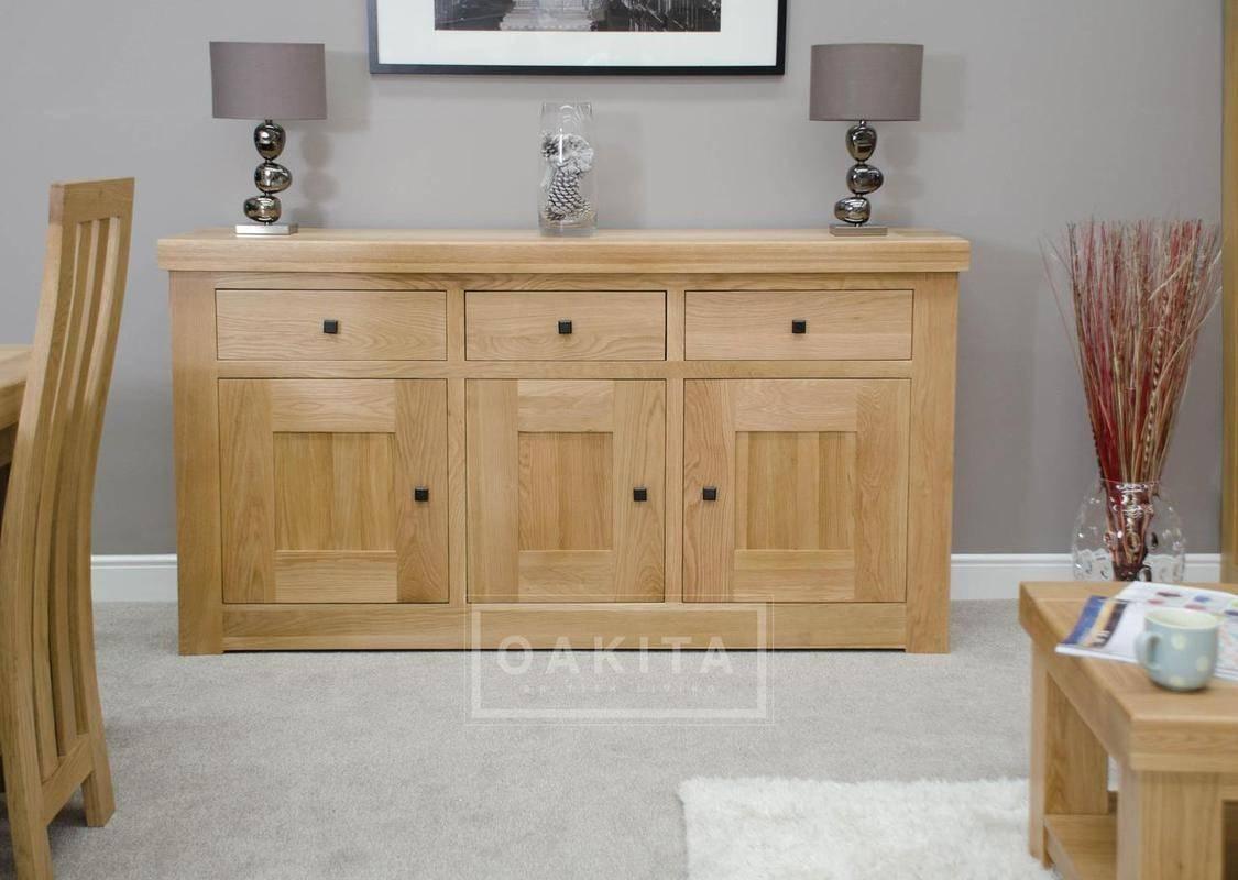 Vienna Large Light Oak Sideboard – Oak Sideboards – Oak Furniture Throughout Light Oak Sideboards (View 6 of 20)
