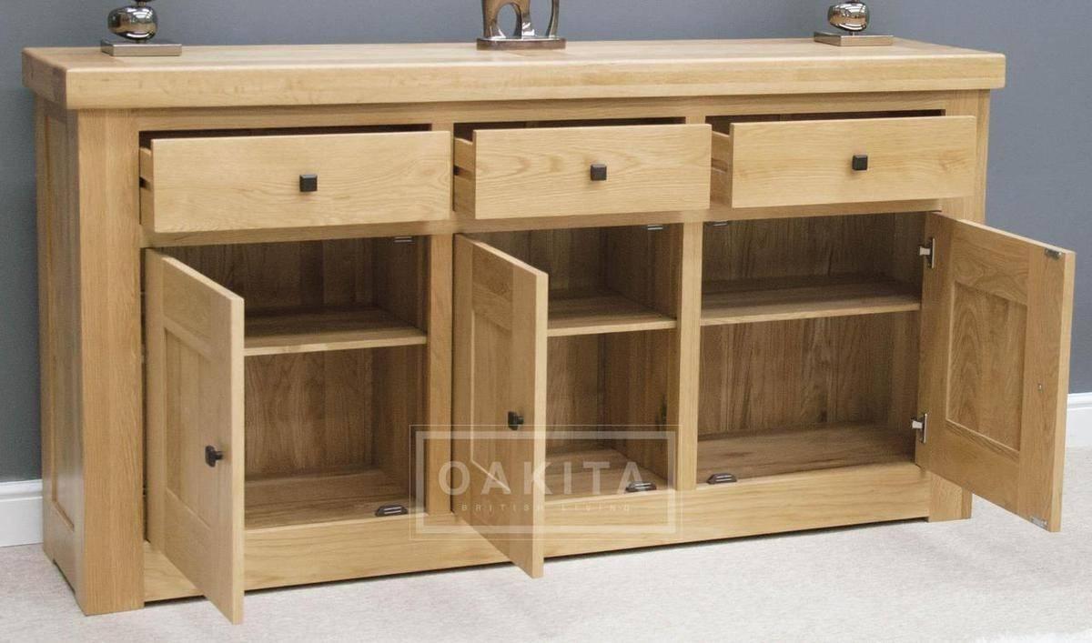 Vienna Large Light Oak Sideboard – Oak Sideboards – Oak Furniture With Regard To Light Oak Sideboards (View 4 of 20)