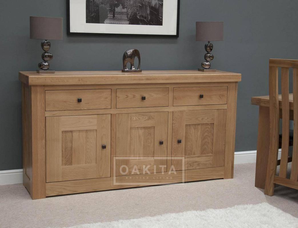 Vienna Large Light Oak Sideboard – Oak Sideboards – Oak Furniture Within Light Wood Sideboards (#20 of 20)