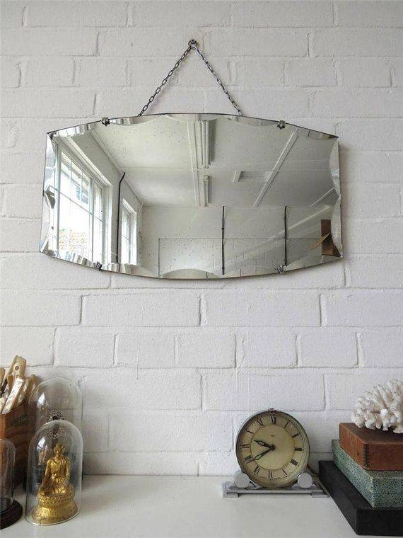 Inspiration about Vintage Bevelled Edge Wall Mirror Art Deco Bevel Edge Mirror Regarding Chrome Wall Mirrors (#14 of 20)