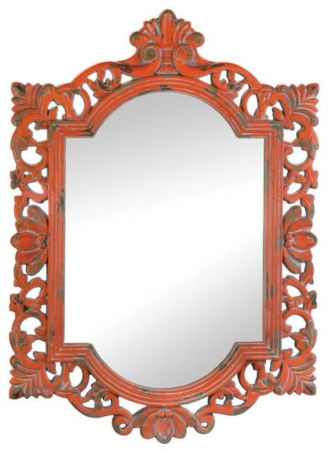 Vintage Emily Coral Mirror – Farmhouse – Wall Mirrors Paisley Within Vintage Looking Mirrors (View 15 of 20)