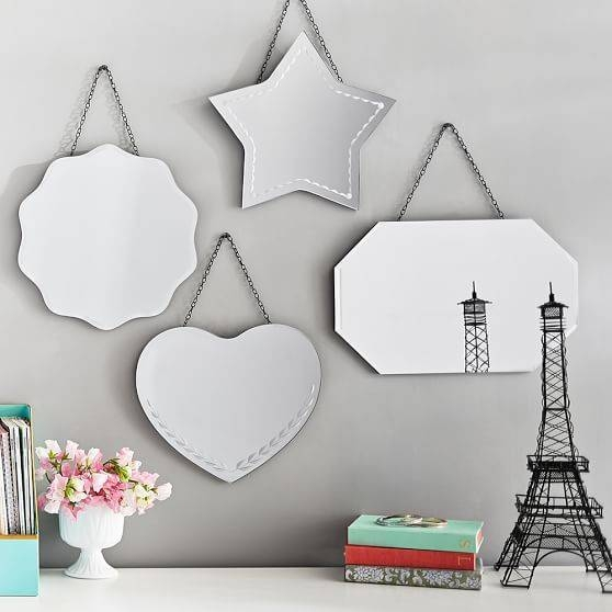 Vintage Frameless Mirrors | Pbteen Within Vintage Frameless Mirrors (#30 of 30)