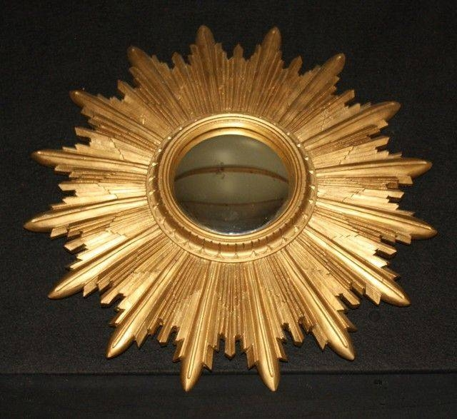 Inspiration about Vintage French Convex Sunburst Mirror Gold Starburst. Ref Amr28 Regarding Starburst Convex Mirrors (#1 of 30)