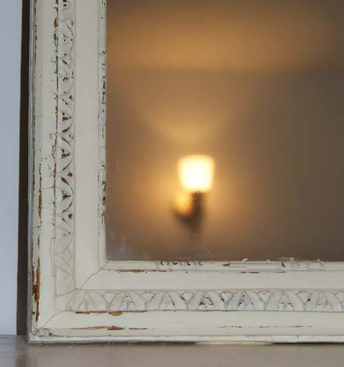 Vintage French Shabby Chic Long Mirror – Distressed, Cream & Gold Within Gold Shabby Chic Mirrors (#15 of 15)