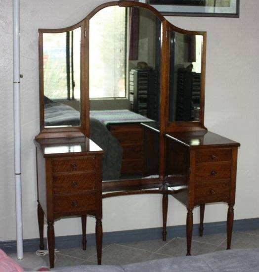 Vintage Furniture Pertaining To Antique Triple Mirrors (#16 of 20)