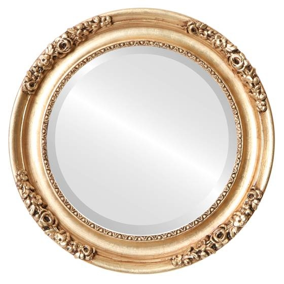 Vintage Gold Round Mirrors From $177 | Free Shipping Intended For Vintage Gold Mirrors (#30 of 30)