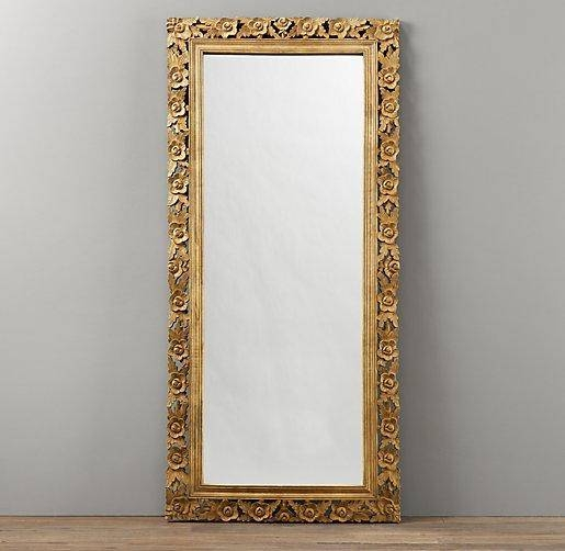 Vintage Hand Carved Full Length Mirror | Mirrors | Restoration For Vintage Floor Length Mirrors (#27 of 30)