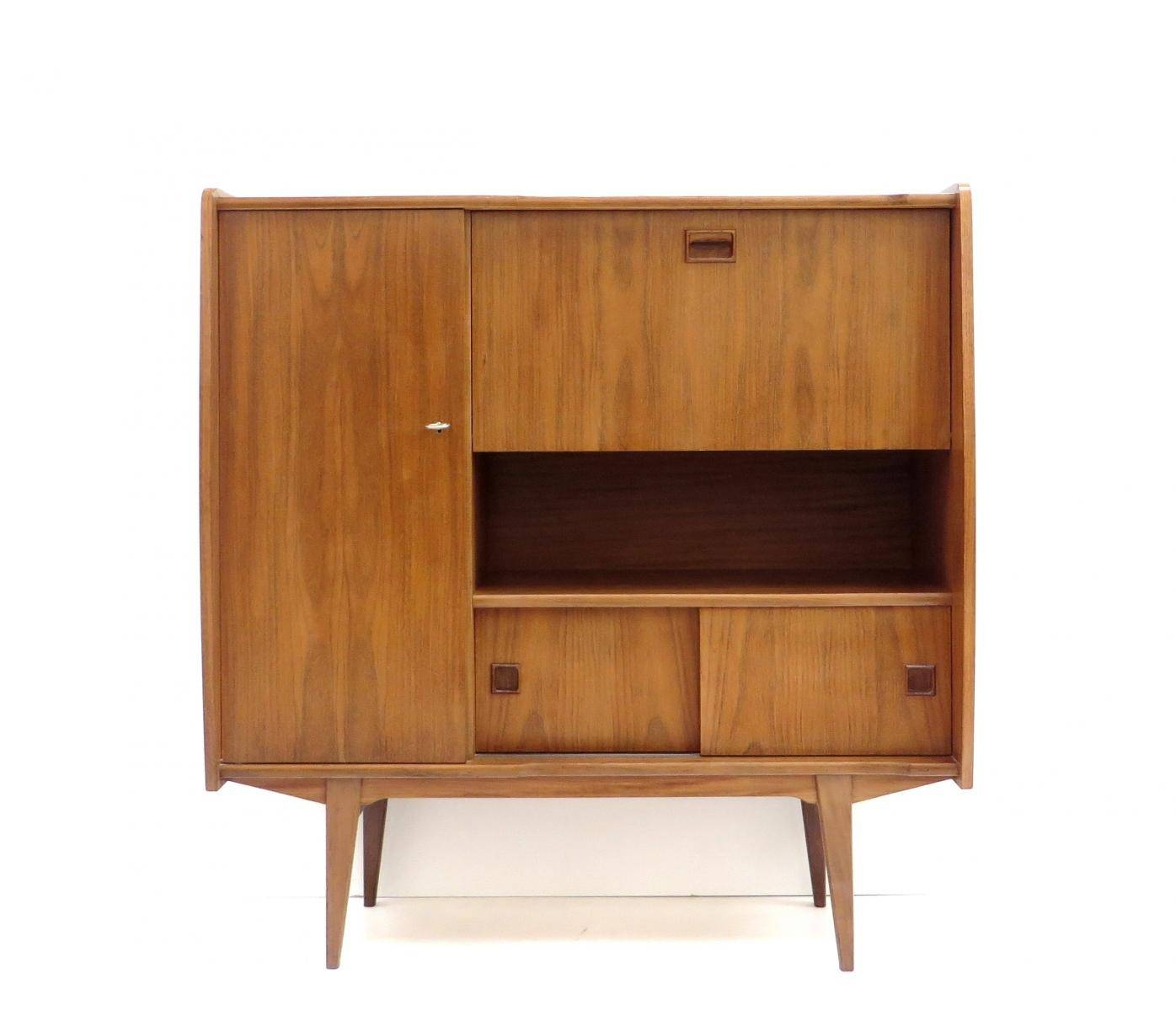 Vintage High Sideboard In Teak, 1960S For Sale At Pamono In High Sideboard (View 18 of 20)