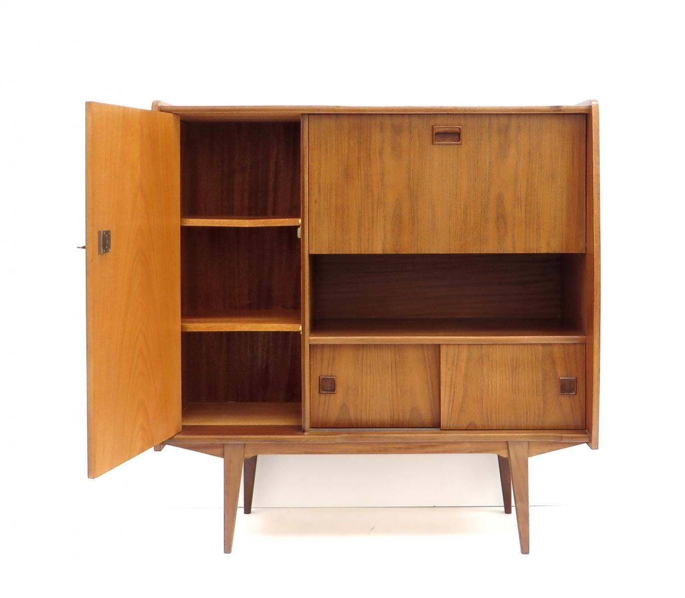 Vintage High Sideboard In Teak, 1960S For Sale At Pamono Pertaining To High Sideboard (View 19 of 20)