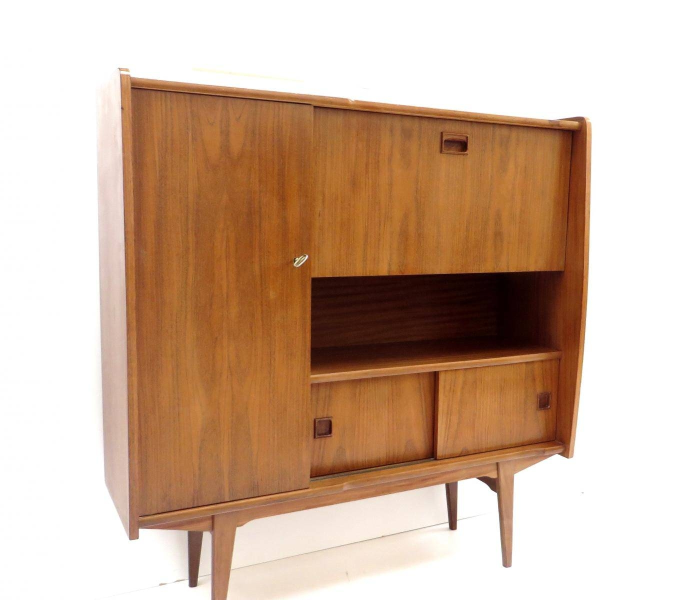 Vintage High Sideboard In Teak, 1960S For Sale At Pamono With High Sideboard (View 20 of 20)