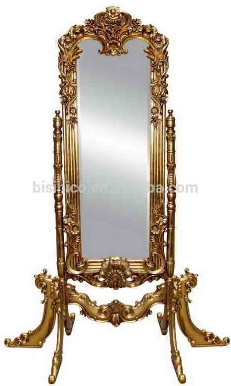 Inspiration about Vintage Home Decorative Full Height Mirror,luxury Carved Wooden Inside Gold Standing Mirrors (#8 of 30)