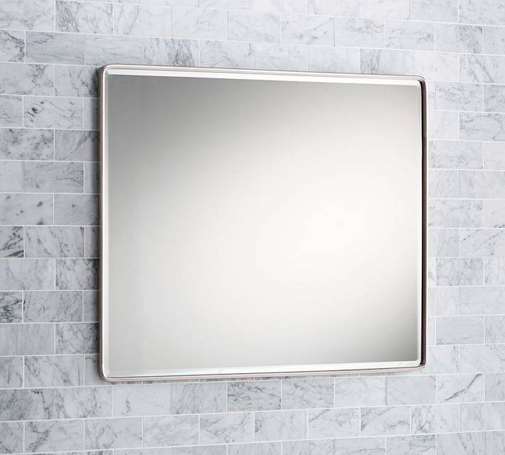 Vintage Large Mirror | Pottery Barn With Large Black Vintage Mirrors (#29 of 30)
