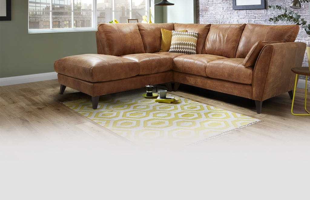 Vintage Leather Corner Sofa Uk Crepeloversca In Small Brown Leather Corner Sofas (View 5 of 15)