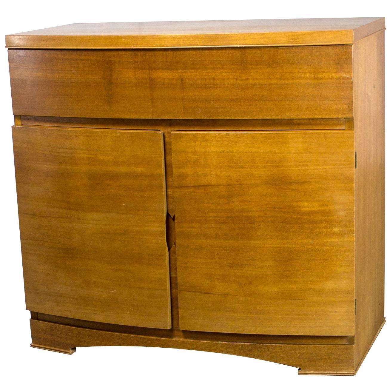 Vintage Mid Century Modern Mahogany Small Chest Type Server Throughout Small Sideboard Cabinet (#19 of 20)