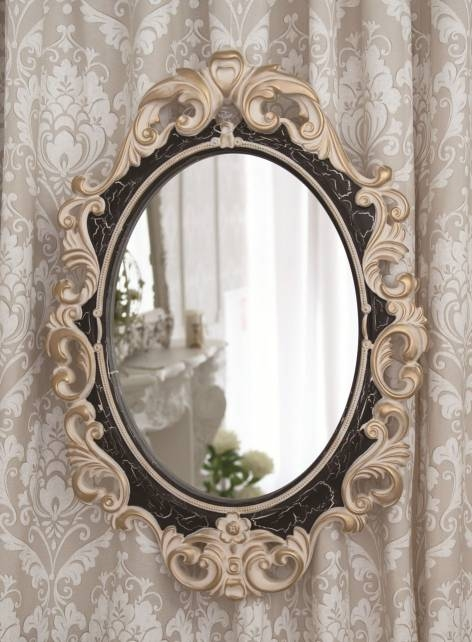 Vintage Mirror In Ivory Venge Gold Craquelure Frame Within Vintage Mirrors (#17 of 20)