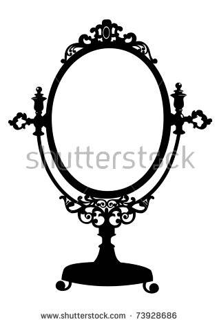Vintage Mirror Stock Images, Royalty Free Images & Vectors Regarding Black Antique Mirrors (View 7 of 30)